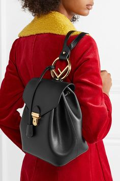 Fendi | Textured-leather backpack | NET-A-PORTER.COM
