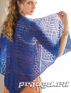 Вязание спицами для женщин шали