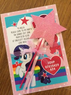 My little pony party invitation