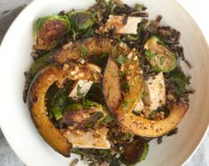 Wild Rice with Seared Brussels Sprouts, Winter Squash, and Tofu | The Simple Art of Vegetarian Cooking #GiadasWeekly