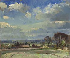 Edward Seago (UK 1910-1974)A Norfolk Landscape (n.d.)oil on board 8 x 10 in.