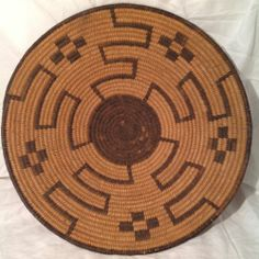 Early Native American Pima Coiled Basket Tray Indian Old Vtg Antique Navajo Hopi | eBay
