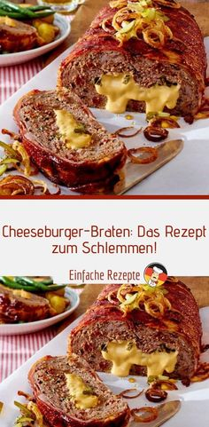 Gesunde Rezepte Roast cheeseburger: the recipe to feast on! Easy Salad Recipes, Chicken Salad Recipes, Queso Frito, Cheeseburger Recipe, Good Food, Yummy Food, Ground Beef Recipes, Apple Recipes, Food Network Recipes