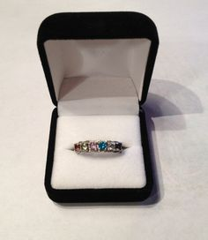 Mothers Ring / Sterling Silver MultiStone by UniqueHanMadeJewelry, $109.95