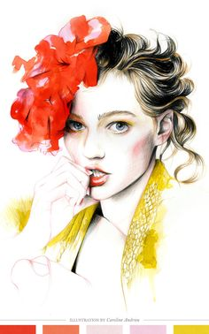 Illustrated Print by Caroline Andrieu