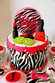 Zebra Pink Spa Cake
