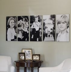 Family pictures - love the size.  Way cute display.