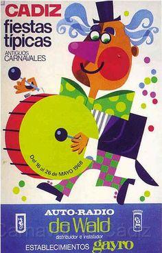Cartel Carnaval de Cadiz año 1968