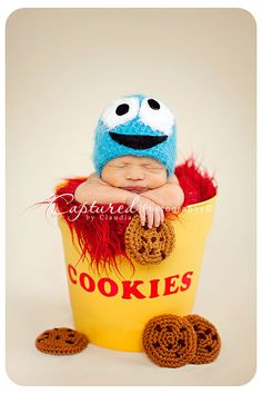 I love baby pictures! Image of Baby Cookie Monster Cute Kids, Cute Babies, Baby Kids, Newborn Baby Photography, Newborn Photographer, Newborn Pictures, Baby Pictures, Newborn Pics, Baby Poses