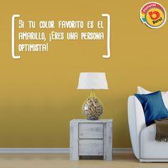 Si tu color favorito es el amarillo, ¡Eres una persona optimista!