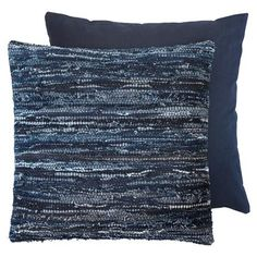 ACHICA | Denim Cushions, Dark Blue, W50 x H50 cm