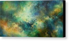 Abstract Design Canvas Print featuring the painting 'eternity' by Michael Lang