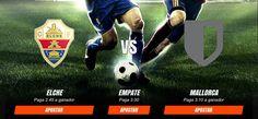 Pronosticos y cuotas para el partido entre Elche Club de Fútbol  vs RCD Mallorca del 27/11. Mas info en http://ift.tt/2fwnUyP #envivo #online