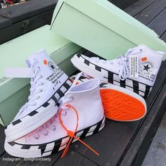 Converse Chuck Taylor All-Star Off-WhiteYou can find Converse chuck taylor and more on our website.Converse Chuck Taylor All-Star Off-White Off White Converse, Converse 70s, White Converse Outfits, Off White Shoes, Galaxy Converse, White Toms, White Outfits, Sneakers Mode, Sneakers Fashion