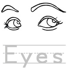 Eyes coloring page C3 Week 5 Pinterest Eye Kid printables