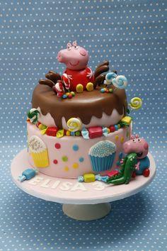 peppa pig and george birthday cake