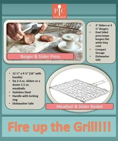 The Pampered Chef stainless steel Meatball & Slider Grill Basket allows you to make 6 sliders or 12 meatballs on the grill at the same time. Pampered Chef Party, Pampered Chef Recipes, Fun Baking Recipes, Cooking Recipes, Pc Image, Chef Grill, Meatball Sliders, Homemade Burgers, Cooking Tools