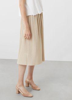 Falda plisada metalizada - Faldas de Mujer   MANGO Islas Canarias