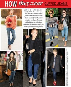Roll with it!  How to wear cuffed jeans.