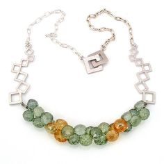 Cluster of Green Necklace (Customer Design) - Lima Beads