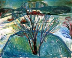 Winter Night  Edvard Munch - 1921