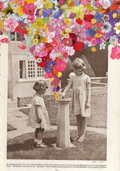 Artist Ben Giles collages, an apt post after Stella McCartney's Spring 2012 Campaign below - cate st hill Collage Kunst, Art Du Collage, Flower Collage, Mixed Media Collage, Collage Design, Wall Collage, Flower Art, Art And Illustration, Photomontage