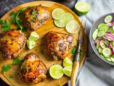 In this easy weeknight-dinner recipe, we marinate chicken thighs in a mixture of Vietnamese fish sauce, sugar, herbs, and spices, then bake them for a dish that's infused with flavor and perfectly browned.