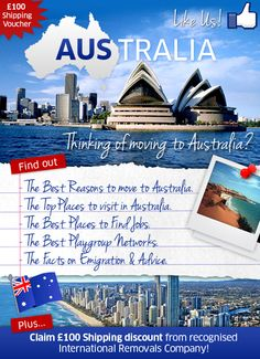 Move to Australia with Fox Moving and Storage http://www.fox-moving.com