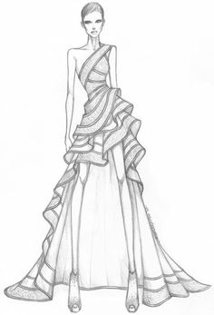 New fashion sketches couture atelier versace Ideas Source by sketches Dress Design Drawing, Dress Design Sketches, Fashion Design Sketchbook, Fashion Design Drawings, Dress Drawing, Fashion Sketches, Wedding Dress Sketches, Art Sketchbook, Fashion Drawing Dresses