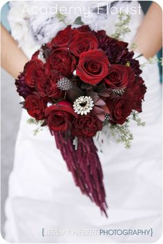 Unique Red Wedding Bouquet by @Academy Sports + Outdoors Sports + Outdoors Florist