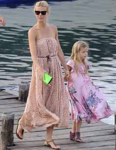 Gweneth Paltrow and daughter Apple Martin.