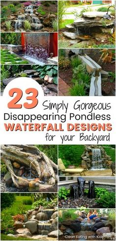 23 Absolutely Gorgeous Pondless disappearing waterfall designs for your backyard