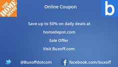Latest homedepot Coupon on Buxoff Visit to know more
