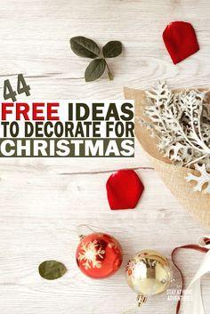 44 Free Ideas for Christmas Decor