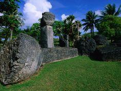 Latte Stones at Taga House, San Jose, Tinian Island, Northern Mariana Islands