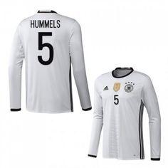 Tyskland 2016 Hummels 5 Hjemmedrakt Langermet.  http://www.fotballteam.com/tyskland-2016-hummels-5-hjemmedrakt-langermet.  #fotballdrakter