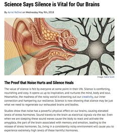 Science Says Silence is Vital For Our Brains - Judith Orloff MD. Brain Facts, Science Facts, Fun Facts, Affirmations, Spirit Science, Mental And Emotional Health, Sound Healing, Spiritual Wisdom, Psychology Facts