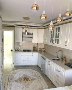Home Kitchen Decor Island 35 New Ideas Country Kitchen Designs, Kitchen Room Design, Kitchen Cabinet Design, Interior Design Living Room, Kitchen Decor, Nice Kitchen, Small Space Interior Design, Küchen Design, Cool Kitchens