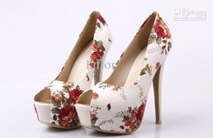 New Arrival Flower-Print Peep-toe Platform Stiletto Heels Shoes Peep Toe Heels, Stiletto Heels, Hot Heels, Cute Shoes, Me Too Shoes, Holiday Shoes, Super High Heels, Buy Shoes Online, How To Make Shoes