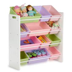 Honey-Can-Do SRT-01603 Kids Toy Organizer and Storage Bins, White/Pastel Honey-Can-Do http://www.amazon.com/dp/B00302KB5O/ref=cm_sw_r_pi_dp_x.qPub1VW1BRE