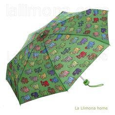 Paraguas kukuxumusu infantil manual animales verde