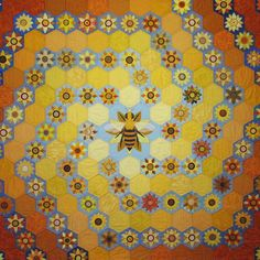 The quilt was purchased by a beekeeping couple from Rhode Island with proceeds from the sale being donated to support UK-based Bees for development's beekeeping projects and rural development initiatives in Ethiopia.