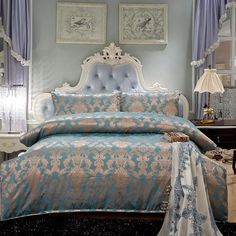 Cheap bed linen set, Buy Quality duvet cover set directly from China bedding set Suppliers: 2015 palace style Luxury bedding set Silk bed linen sets queen king size Quilt/duvet cover set bedsheets cotton bedcover King Size Bed Covers, Pink Bedding Set, Bed Sheet Sets, Bed Linens Luxury, King Bedding Sets, Duvet Cover Sets, Luxury Bedding, Silk Bedding Set, Bed Linen Sets