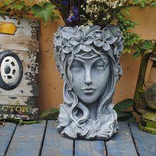 Large Garden Planters, Face Planters, Flower Planters, Flower Vases, Pierre Decorative, Large Floor Vase, Cheap Vases, Sculptures, Lion Sculpture