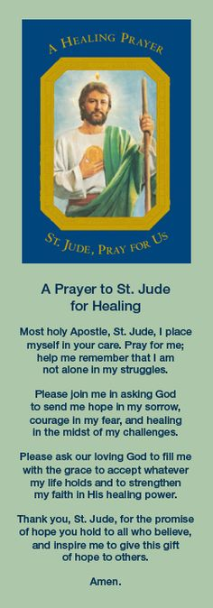 Prayers For Healing: A Prayer to Saint Jude for Healing Prayer Verses, Faith Prayer, Prayer Quotes, My Prayer, Bible Verses, Prayer Board, St Jude Prayer, Novena To St Jude, Prayers For Healing