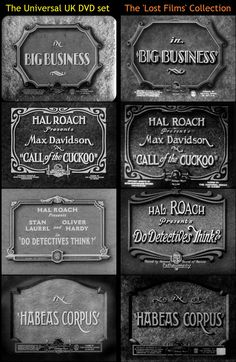 8 best vintage movie title cards images on pinterest title card title cards comparison universal dvd vs the lost films series reheart Image collections