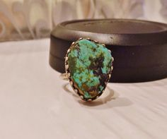 Navajo Sterling Silver Turquoise Ring by LittleBittreasures