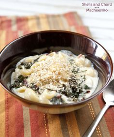 Stovetop mac and cheese with wilted chard (to make it healthy, obvs.)