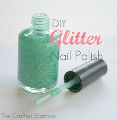 The Crafted Sparrow: DIY Glitter Nail Polish