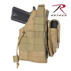 Rothco MOLLE Modular Ambidextrous Holster features a modular design for left or right hand use. The holster also features an elastic cord for securing weapon, 1 Pistol Holster, Holsters, Tactical Pistol, Tactical Vest, Tactical Knife, Drop Leg Holster, Army Navy Store, Tactical Gear, Knights